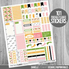 Fun Floral Checklist Stickers Planner Stickers by FabPrintables