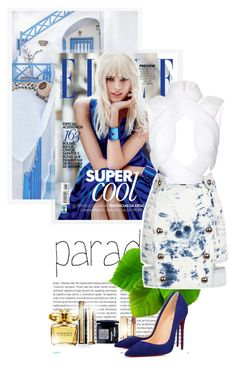 """Blue paradise"" by ionara ❤ liked on Polyvore featuring Oris, Dion Lee, Anthony Vaccarello, Elizabeth Arden, Versace, Guerlain, Christian Dior, Yves Saint Laurent and Christian Louboutin"