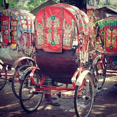 Rickshaws and Tagore quote