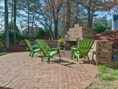 215 Suwanee Pl Ct Executive Home Outdoor Brick Fireplace