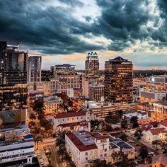 Downtown Orlando Florida Images, Downtown Orlando, San Francisco Skyline, Travel, Viajes, Destinations, Traveling, Trips