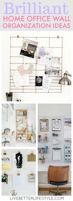 40 Best Office Wall Organization Images