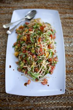 Summertime Noodles with Sweet Balsamic Dressing