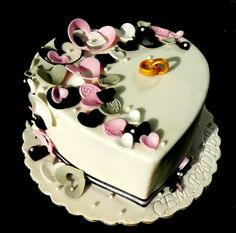The shape of my heart - by laskova @ CakesDecor.com - cake decorating website