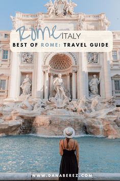 How to Spend a Weekend in Rome Italy Best of Rome Travel Guide Dana Berez Top things to do in Rome. This is an ultimate Rome travel guide including all the things you should do in Rome. Your questions of where to stay, what to do, and where to eat are Italy Travel Tips, Europe Travel Guide, Rome Travel, Travel Destinations, Travel Checklist, Holiday Destinations, Budget Travel, Weekend In Rome, One Day In Rome