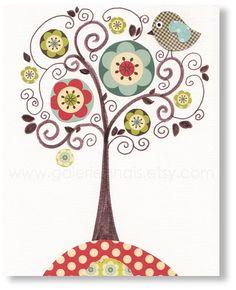 Bird and Tree print