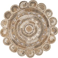 Daisy, Round Area Rugs, Jute Rug, Shape Design, Natural Rug, Flower Shape, Beige Area Rugs, Accent Pieces, Colorful Rugs