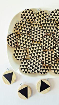 """Baumschmuck: Holz - Geometrischer Baumschmuck, Baumhänger """"Triangle"""" - ein Designerstück von Ahoj-2012 bei DaWanda"""