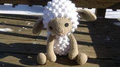 Crochet  Sheep  Lamb  Stuffed animal  by CarolynLouiseCrochet