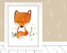 """Bilder - Kinderbild """"Fuchs""""  - ein Designerstück von pipapier bei DaWanda"""