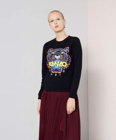 0eb29d6ecf Authentic KENZO Paris 2016 Tiger Print Cotton Sweatshirt Sweater S woman