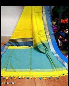 Sarees Haarika Khadi Cotton Women's Saree Saree Fabric: khadi cotton Blouse: Running Blouse Blouse Fabric: Khadi Cotton Multipack: Single Country of Origin: India Sizes Available: Free Size   Catalog Rating: ★4 (453)  Catalog Name: Alisha Solid Khadi Khadi Cotton Sarees with Tassels and Latkans CatalogID_611202 C74-SC1004 Code: 894-4268262-8421