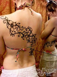 Kona Henna Studio - Floral Back Wrap