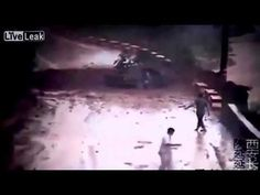 China Video Shows Car Hit By Landslide