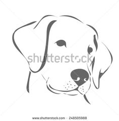 line drawing of labrador retriever - Google Search