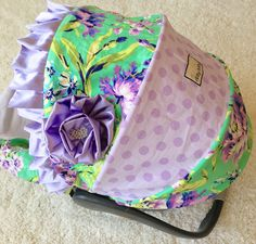 Ritzy Baby Designs, LLC - Purple Floral Infant Car Seat Cover, $80.00 (http://www.ritzybaby.com/purple-floral-infant-car-seat-cover/)