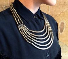 metal bib necklace
