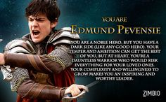 I took Zimbio's 'Chronicles of Narnia' quiz, and I'm Edmund Pevensie! Who are you?