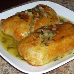 Salmon Wellington With White Wine Butter Sauce