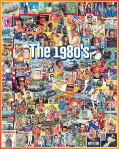The artist captures the fashion and sports, the celebrities and politicians of this era. This is a great companion to the 50's, 60's and the 70's so be sure to collect them all. Artist: James Mellett. 1000 piece jigsaw puzzle. Finished size 24