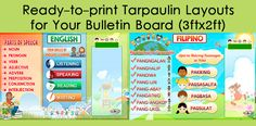 High Quality Tarpaulin Layouts for Bulletin Board x - DepEd Forum Elementary Bulletin Boards, Classroom Bulletin Boards, Classroom Posters, Classroom Displays, Printable Border, Bulletin Board Borders, Math Art, Tarpaulin, Your Teacher