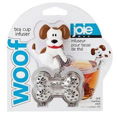 Joie Meow Loose Leaf Tea Cup 18//8 Stainless Infuser /& Drip Bowl Cat Theme