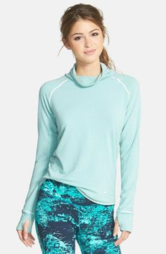 Nike 'Sprint Feather Fleece' Dri-FIT Mock Neck Pullover | Nordstrom