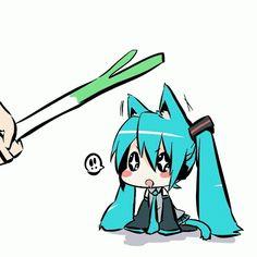 Miku Hatsune Chibi Anime gif D.Demo what abt the leek =O. Dibujos Anime Chibi, Chibi Anime, Kawaii Chibi, Manga Anime, Manga Art, Anime Art, Gifs Kawaii, Anim Gif, Anime Amino