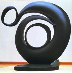 Abstraction, a cast aluminum sculpture by Georgia O'Keeffe. Designed in 1946, it was cast ca.1979-80