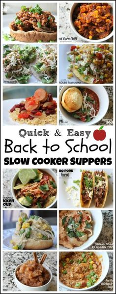 Back to School Slow Cooker Suppers! | Mix and Match Mama