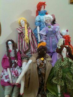 Bonecas TILDA feitas por mim.