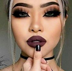 Silver Nose Ring Hoop Ear Septum Helix Cartilage Tragus Small Thin Piercing Silver Nose Ring Hoop Ear Septum Helix Cartilage Tragus Small Thin Piercing - Das schönste Make-up Black Eye Makeup, Dark Makeup, Glam Makeup, Makeup Inspo, Beauty Makeup, Makeup Ideas, Black Makeup Looks, Black Lipstick Makeup, Beauty Ad