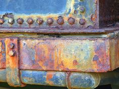 Part of a Rusty Train Locomotive in Naboomspruit, South Africa