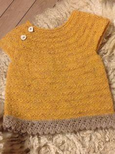 Kjole til lillepigen i islandsk uld