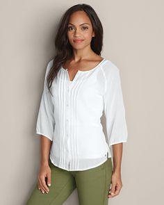 Women's Daydreamer 3/4-sleeve Shirt - Solid | Eddie Bauer