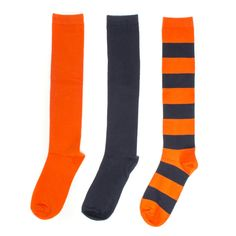 Navy + Orange 3-Pack Knee-High Socks #Bears #Chicago #Broncos #Blue #Mets