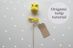 Origami tulip tutorial on the Hobbycraft blog, ideal for mum on Sunday.