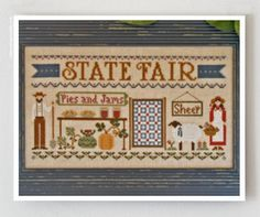 State Fair cross stitch pattern by Little House Needleworks at www.thecottageneedle.com