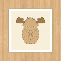 Little Moose. $6.00, via Etsy.
