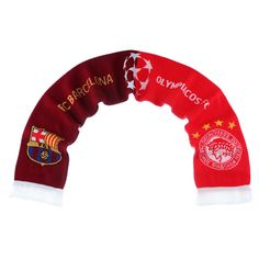 17-18 UCL Olympiacos vs FC Barcelona Scarf
