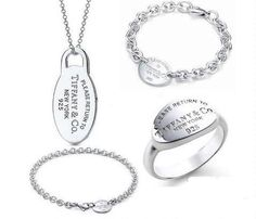 Tiffany  Co Outlet 925 Silver Four Pieces Set