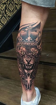 22 male tattoos on the leg - tattoo - # men .- 22 männliche Tattoos am Bein – tattoo – 22 male tattoos on leg # tattoos – tattoo – # leg # male # tattoo # tattoos - Lion Leg Tattoo, Calf Tattoo Men, Lion Tattoo Sleeves, Lion Tattoo Design, Forearm Sleeve Tattoos, Lion Sleeve, Tattoo Forearm, Tattoo Legs, Tattoo For Man