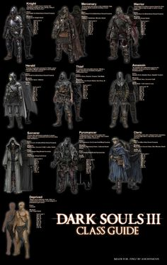 Dark Souls 3 Class Guide: which will you start as? Dark Souls 3, Fantasy Armor, Dark Fantasy, Larp, Soul Saga, Bloodborne Art, Dark Blood, Video Game Art, Video Games