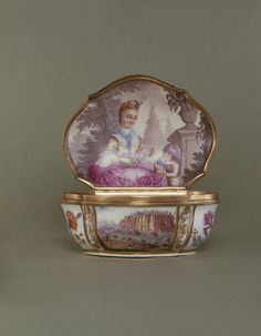 Snuff box Place of origin: Meissen, Germany (made) Date: ca. 1740-1745 (made)