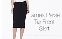 James Perse Tie Front Skirt Available At Free Shop!!