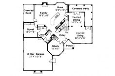 spanish style house plan stanfield floor colonial plans botilight