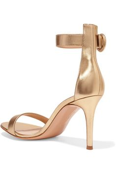 100a0bc2e94 Gianvito Rossi - Portofino 85 metallic leather sandals