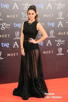 Fabulously Spotted: Blanca Suárez Wearing Elie Saab - Goya Cinema Awards 2014 - http: