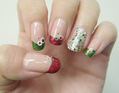 Christmas nail art  (Dec 2011)
