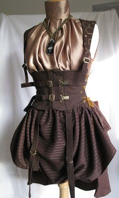 I would wear this steampunk outfit. I love it!